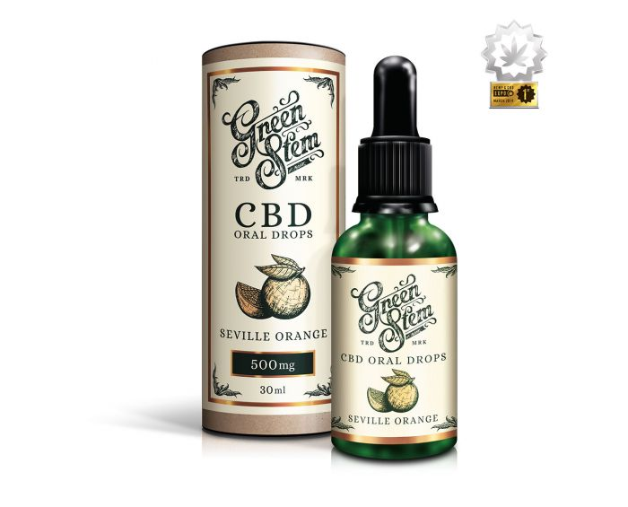 Green Stem Seville Orange CBD Oil Oral Drops