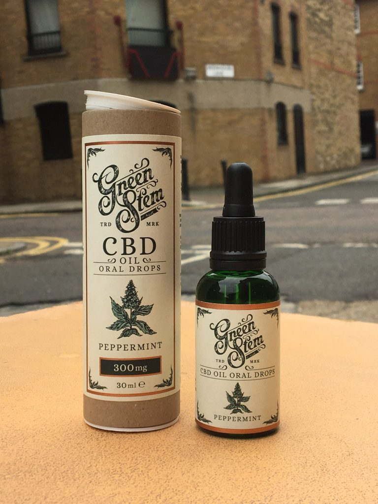 Green Stem Peppermint CBD Oil Oral Drops