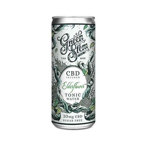 GREEN STEM CBD TONIC WATER - ELDERFLOWER 250ML 10MG CBD