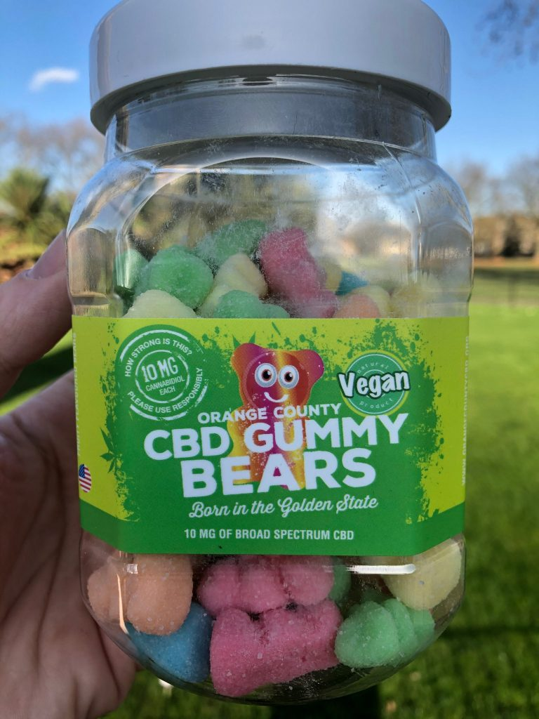 Orange County CBD Large Vegan CBD Gummy Bears