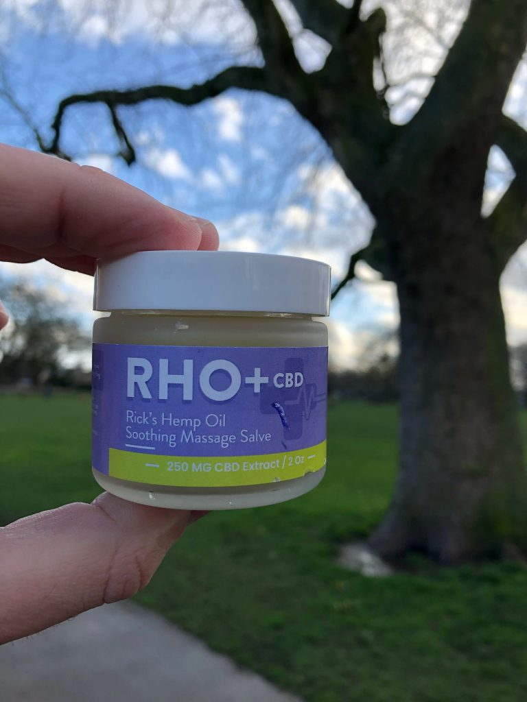 RHO+ Lavender CBD Massage Cream With Ylang Ylang 250 MG CBD 2 oz