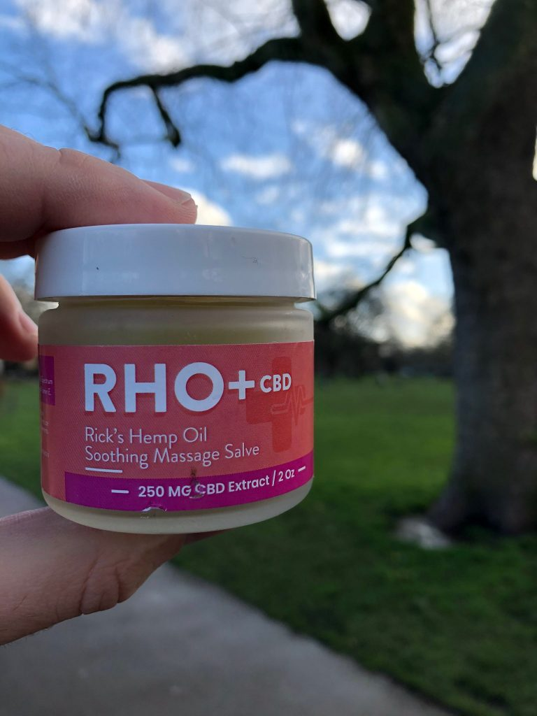 RHO+ Rose Petal CBD Massage Cream 250 MG CBD 2 oz