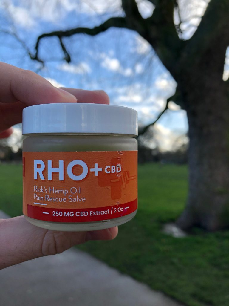 RHO+ CBD Pain Rescue Salve With Arnica, Menthol & Comfrey 250 MG 2 oz