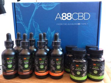 A88CBD CBD Tinctures, CBD Capsules, CBD Gummies, CBD Bath Salts, CBD Body Lotion, CBD Essential Oil, CBD Hydrating Hand + Foot Cream, CBD Lip Balm and CBD Muscle Salve.